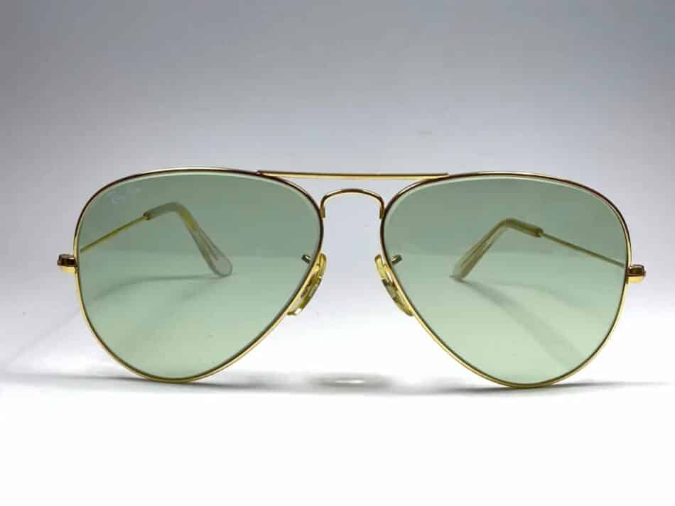 1980s Ray-Ban Aviators, offered by Nightwings, with changeable green lenses.