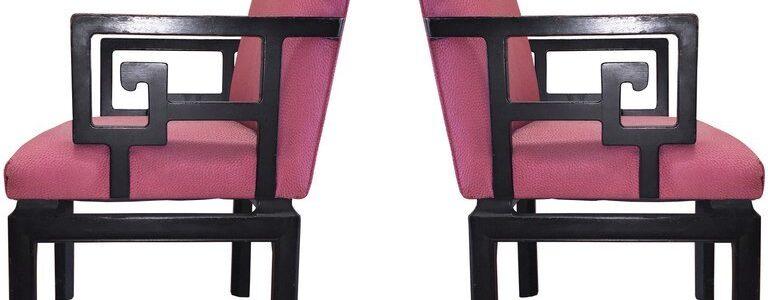 greek key chairs