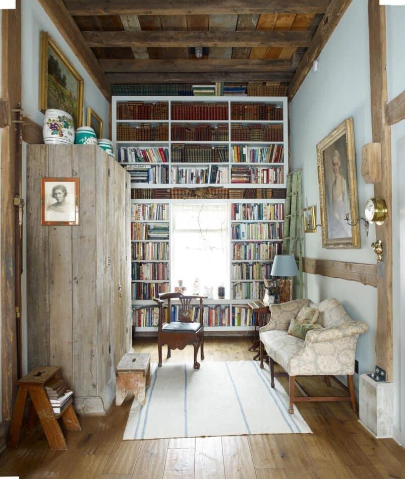 James Huniford-designed reading nook in Woodstock, NY
