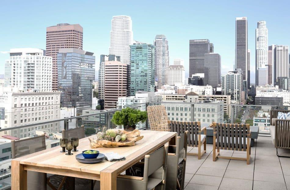 LA loft patio by Jeff Andrews