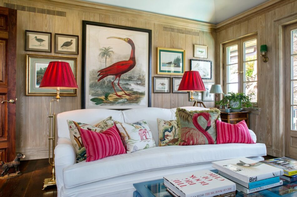 The sitting room in Betsy Shiverick's Palm Beach, Florida, home