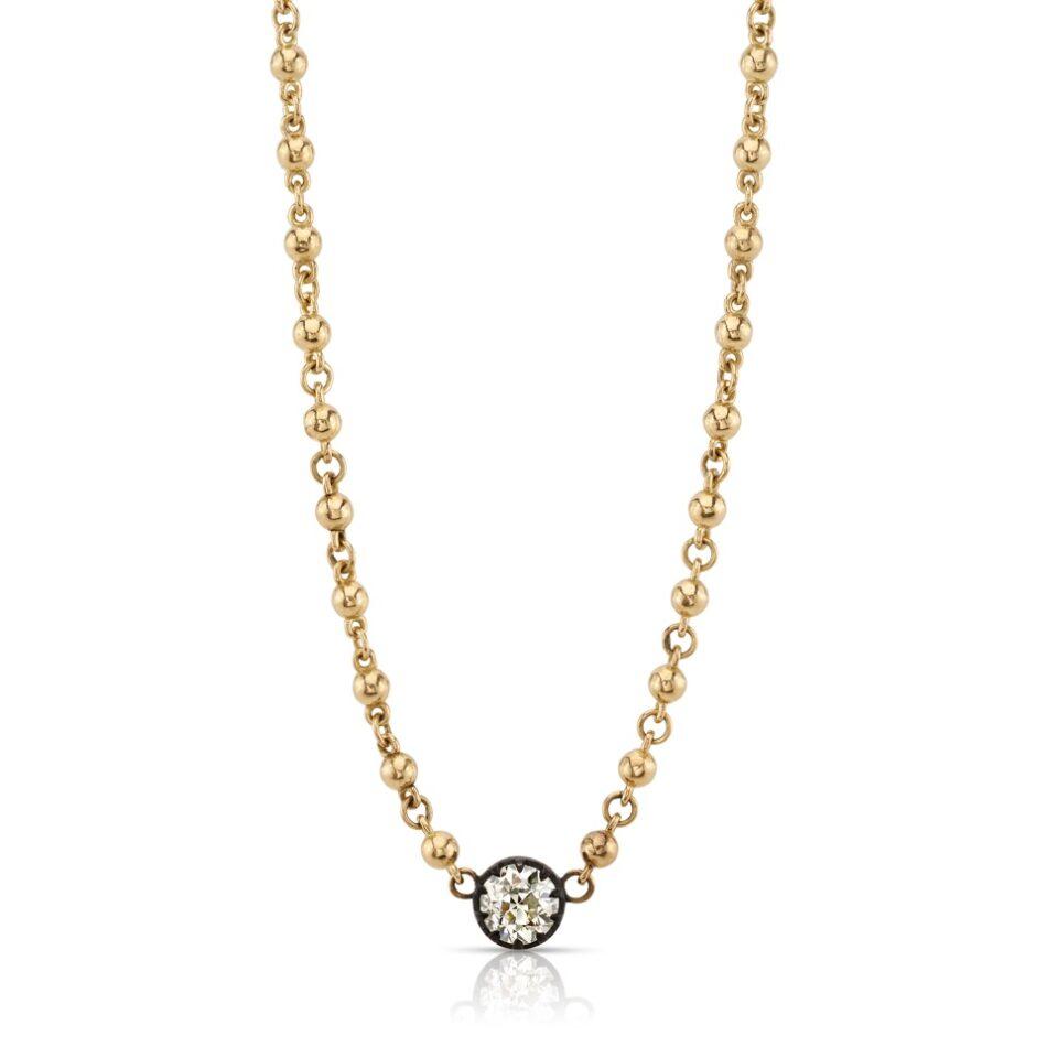 Single Stone pendant necklace