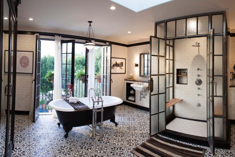 Deirdre Doherty-designed Los Angeles bathroom