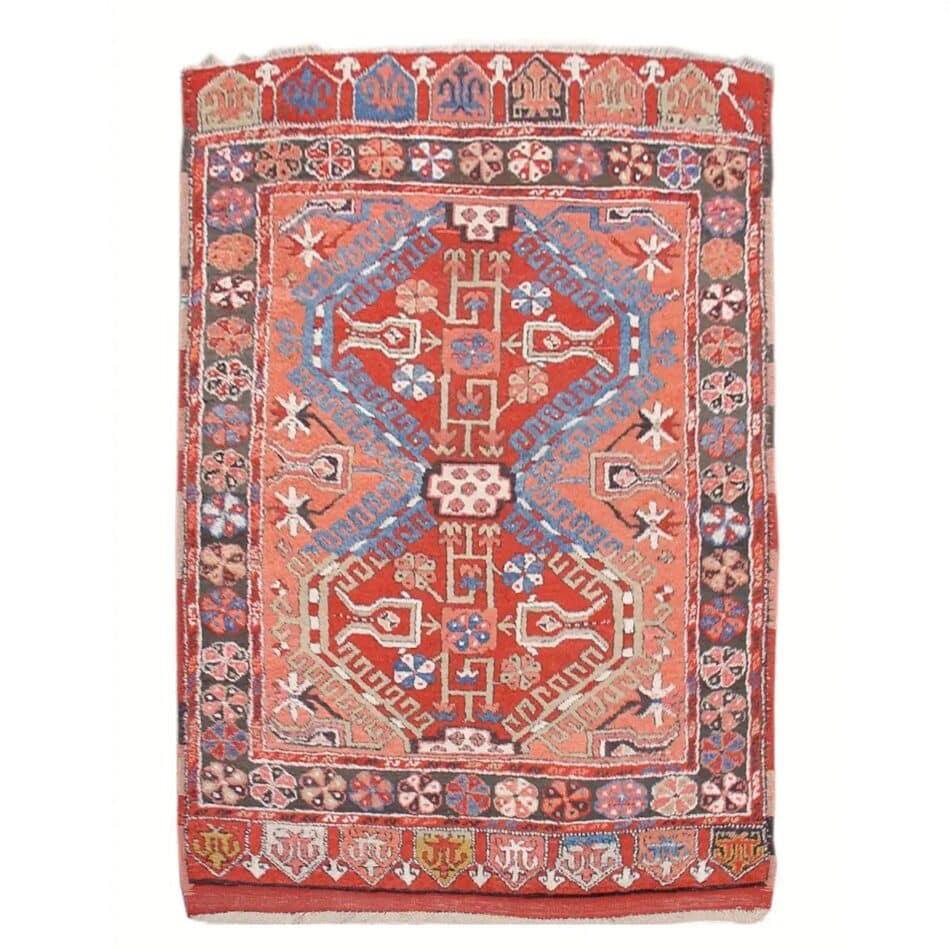 Anatolian Konya rug with apricot hues