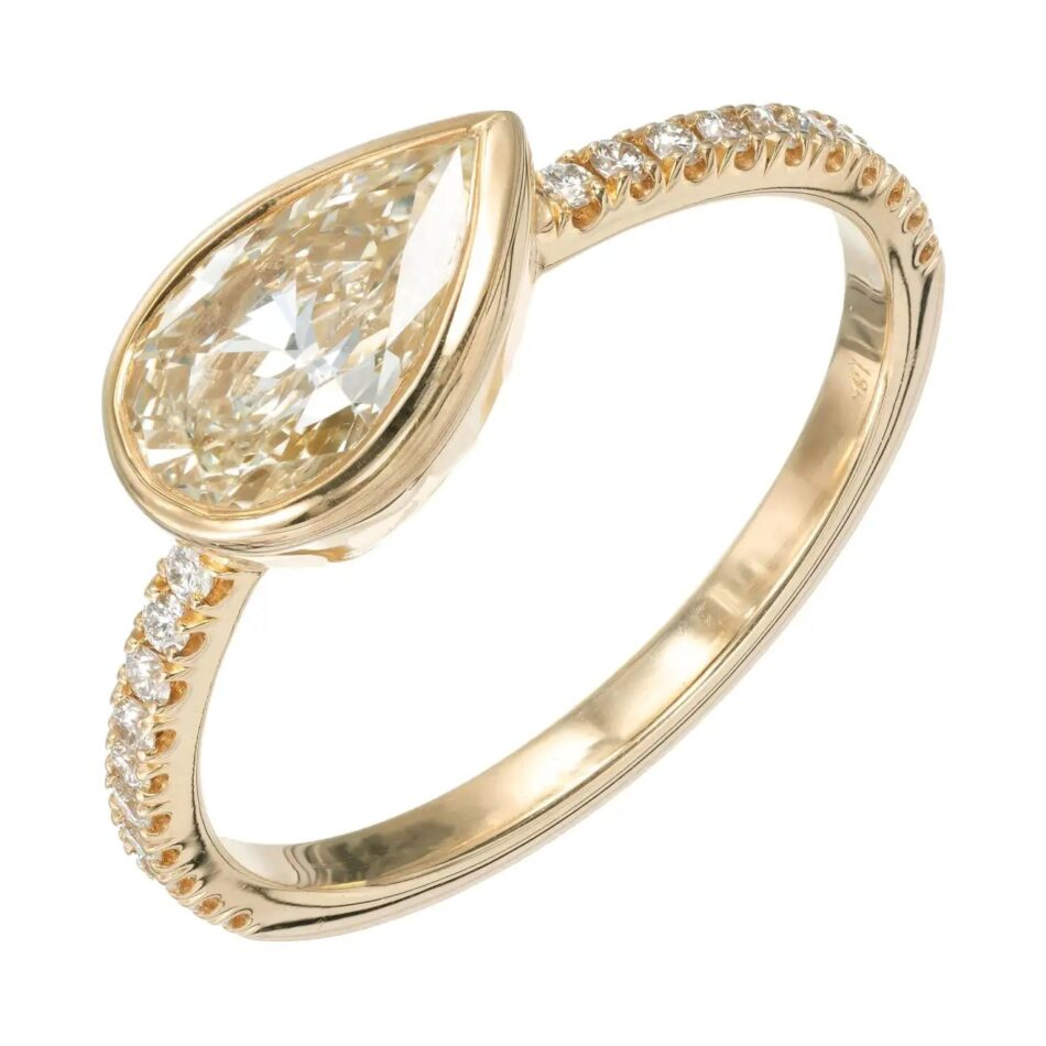 Peter Suchy Jewelers yellow-diamond engagement ring, 2019