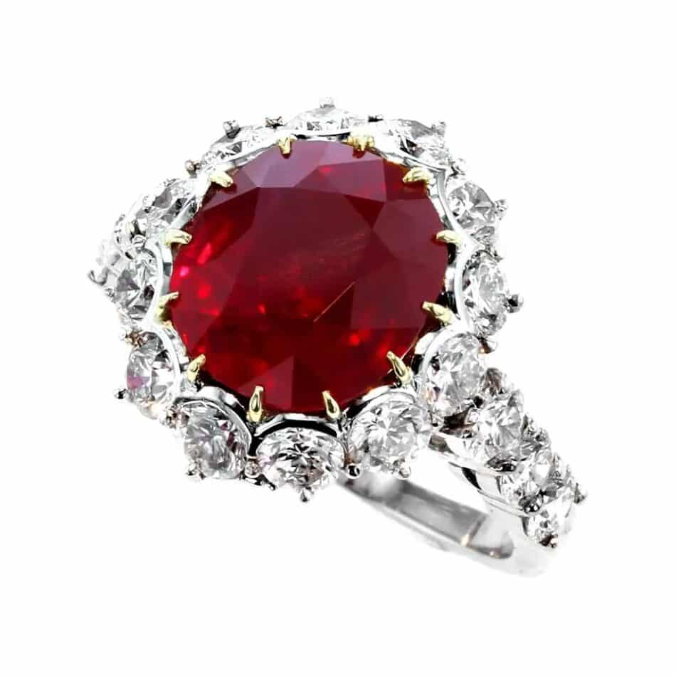 Garrard pigeon's blood ruby and diamond ring, 21st Century, offered by RAF Jewels
