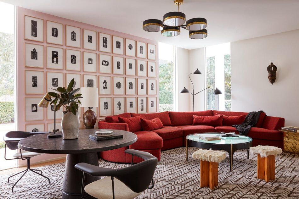 Jamie Bush living room in Houston