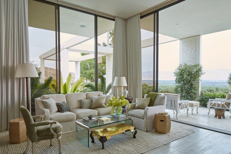 Malibu living room by Michael S Smith