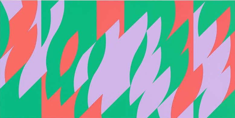 About Lilac, 2007, by Bridget Riley