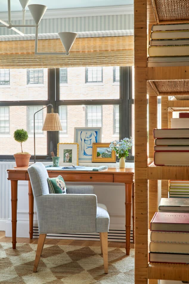 Ariel Okin's home office in New York