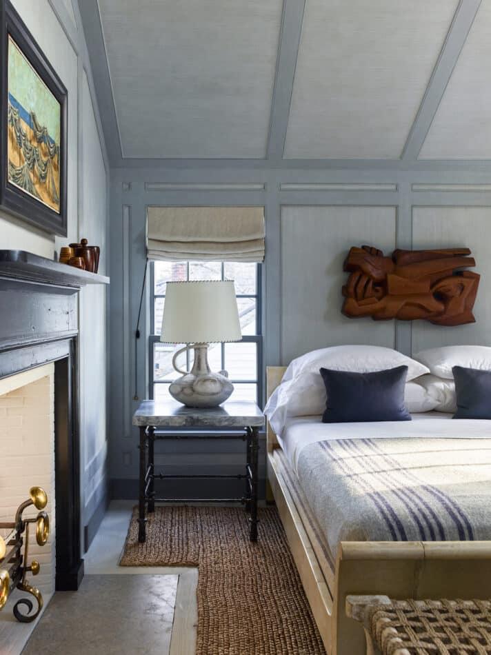 S.R. Gambrel-designed guest bedroom in Sag Harbor