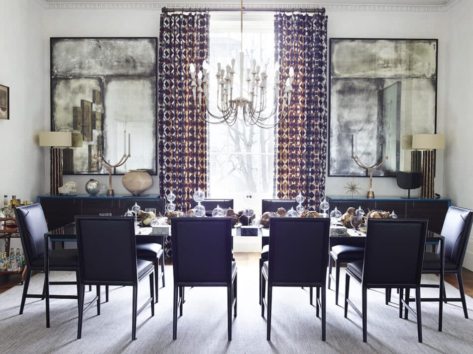 Dining room in London