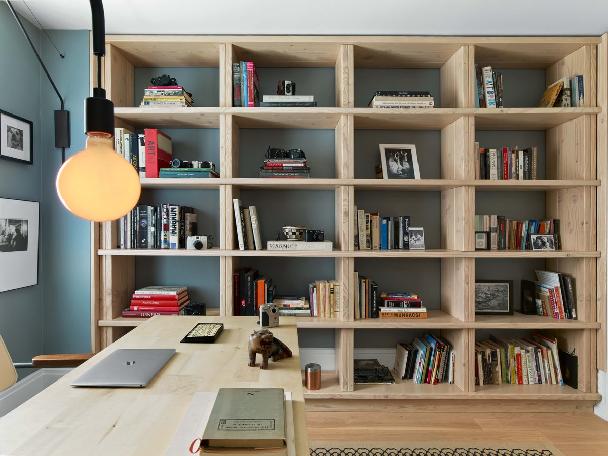 A home office on New York's Upper West Side designed by 2Michaels.