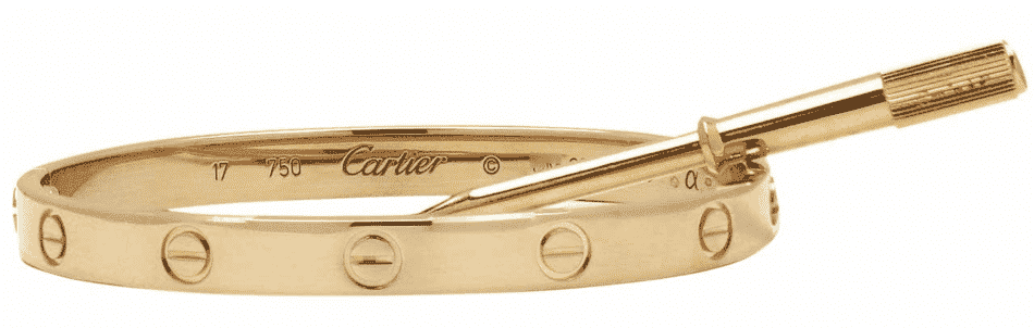 Cartier Love bracelet in yellow cold with matching mini screwdriver on top, 2008