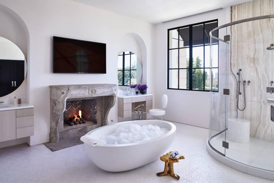 Bathroom by Stephen Stone Designs in Los Angeles, CA