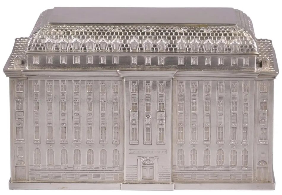 Large German Architectural-Form Silver Box