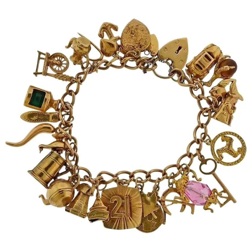 English charm bracelet, 19th Century