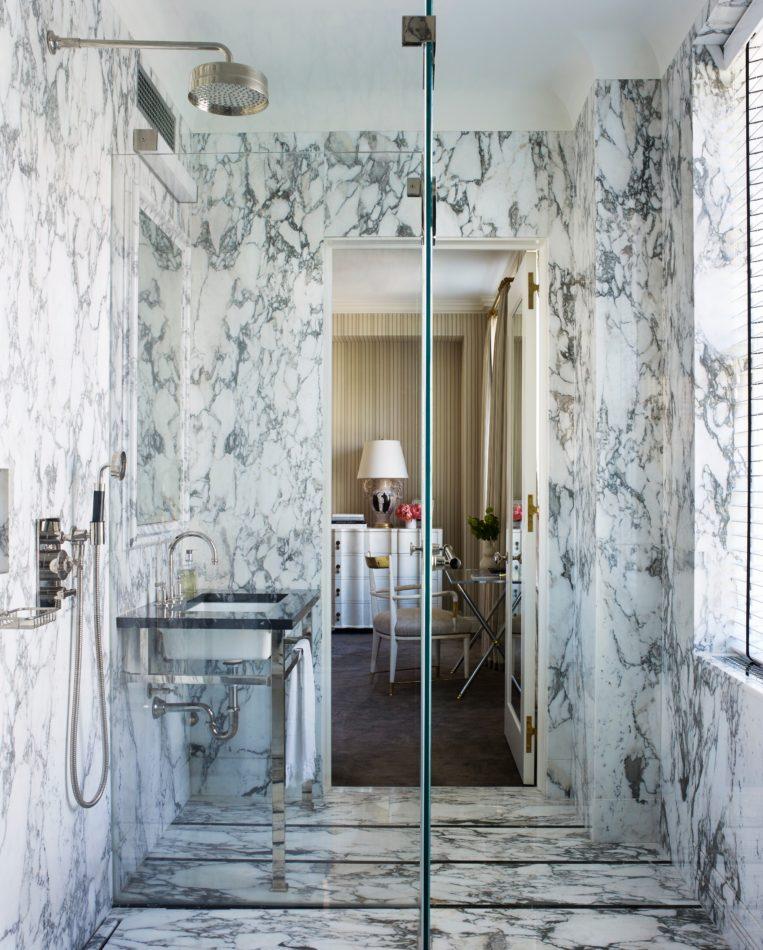 David Kleinberg Design Associates bathroom in New York