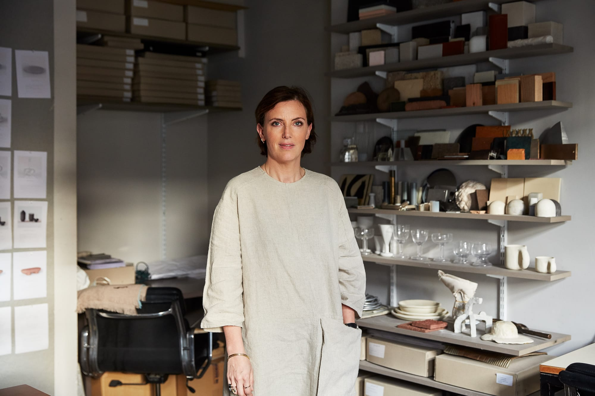 Faye Toogood in her London studio.
