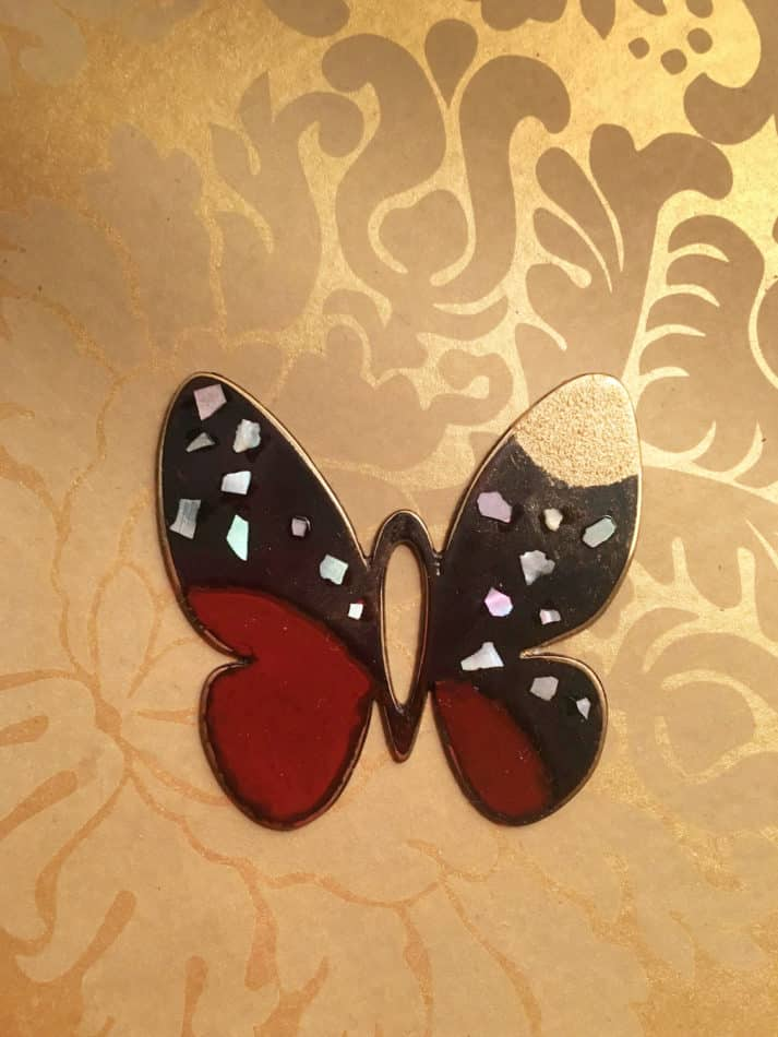 Finished butterfly pendant