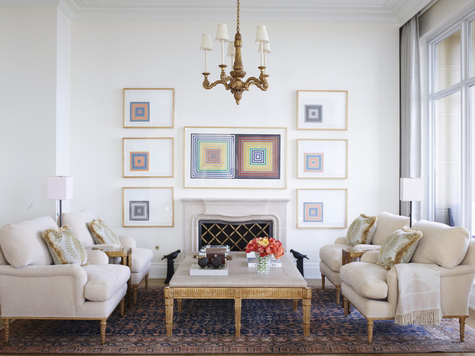 Timothy Corrigan-designed living room in Chicago