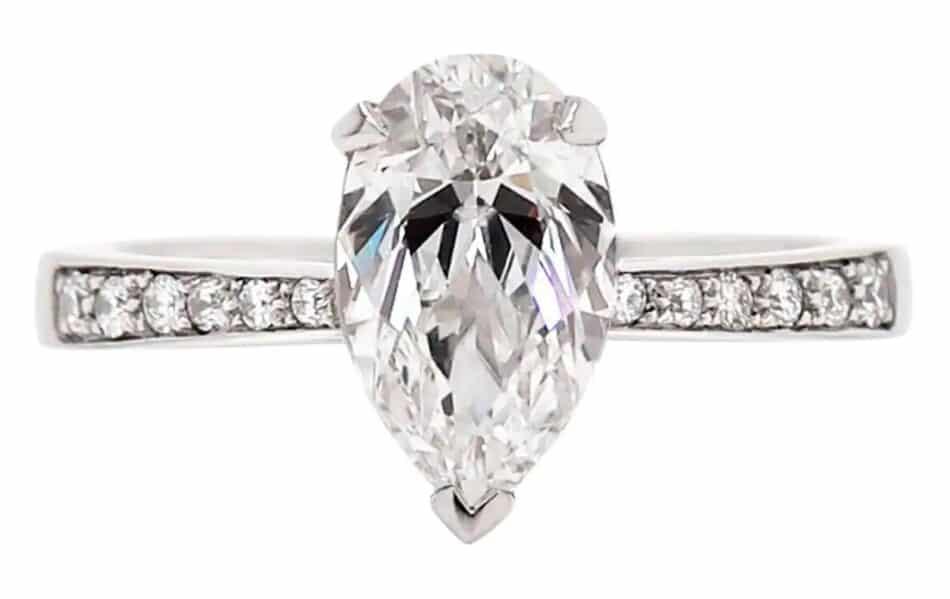 Diamond engagement ring, 2012, offered by Tobi Gem Setting