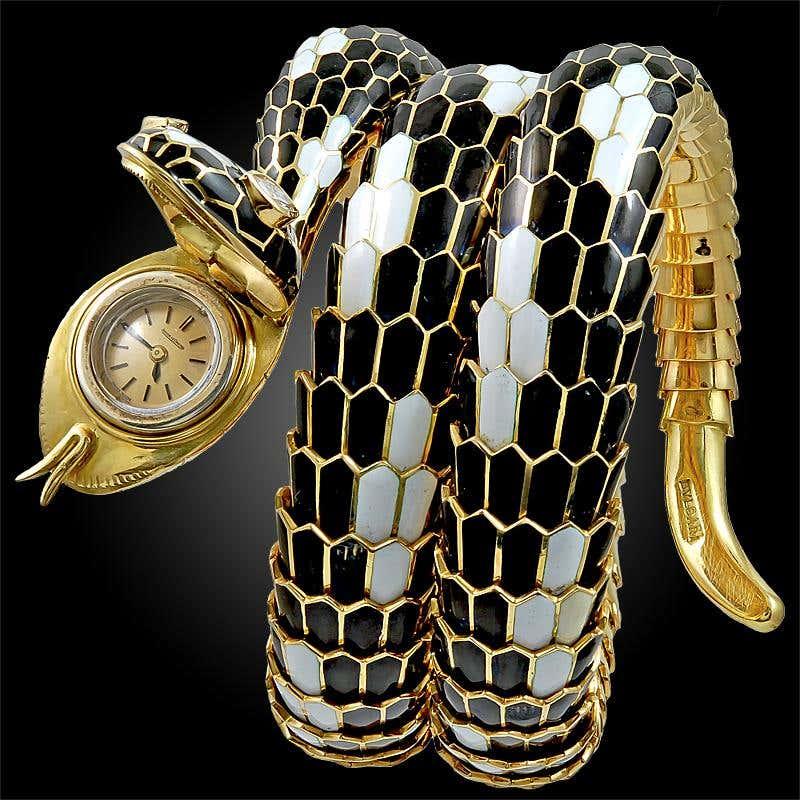 Bulgari Serpenti bracelet watch