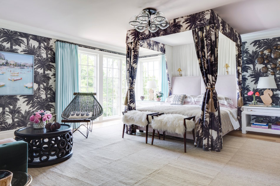 Hamptons bedroom designed by Wesley Moon