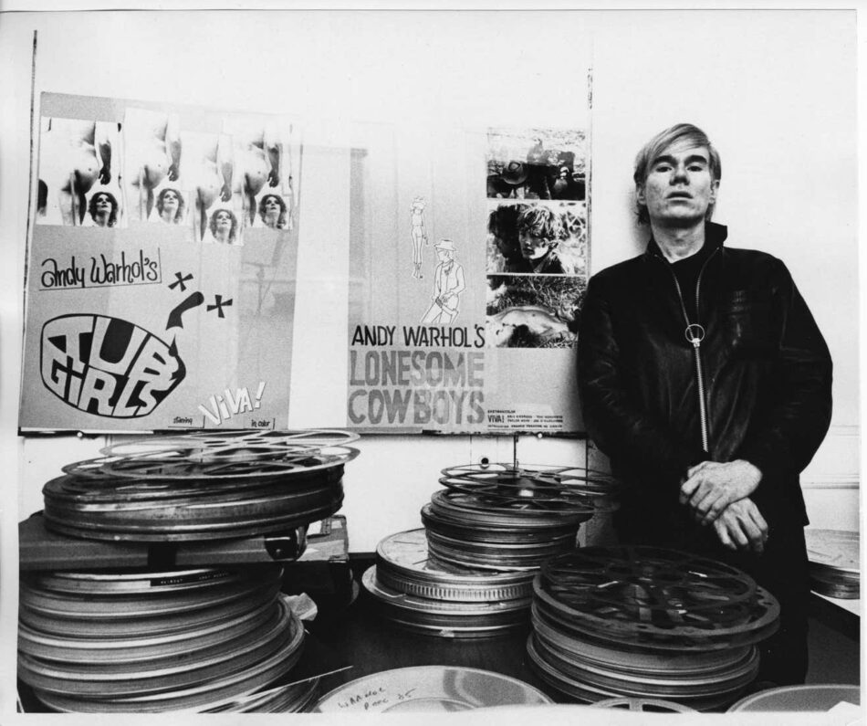 Andy Warhol at his Factory at 33 Union Square West in New York City, 1968, by Jack Mitchell