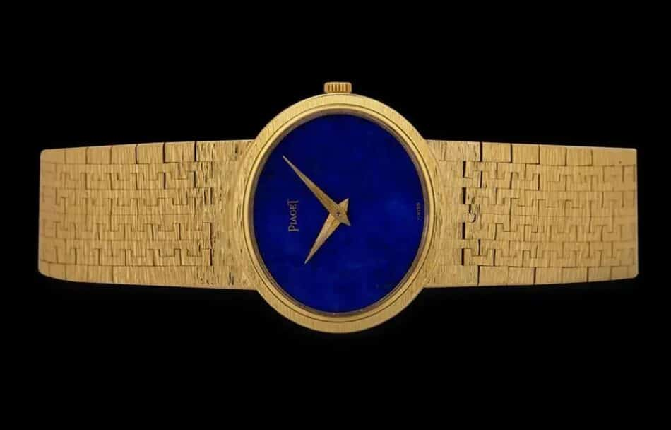 Piaget ladies' dress watch with lapis lazuli dial, 20th century, offered by WatchCentre