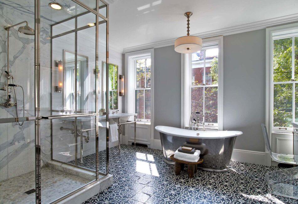 Mark Zeff-designed bathroom in the West Village