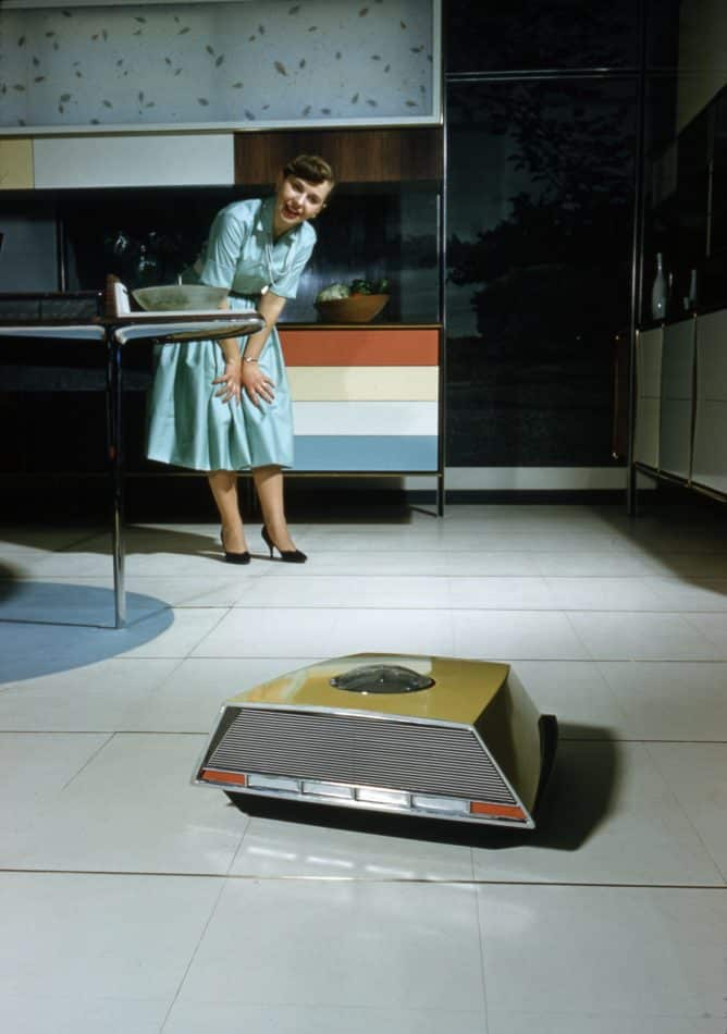 Was a vacuuming robot too good to be true in the 1950s? Yes. In fact, it was radio controlled by a man hidden behind a two-way mirror.
