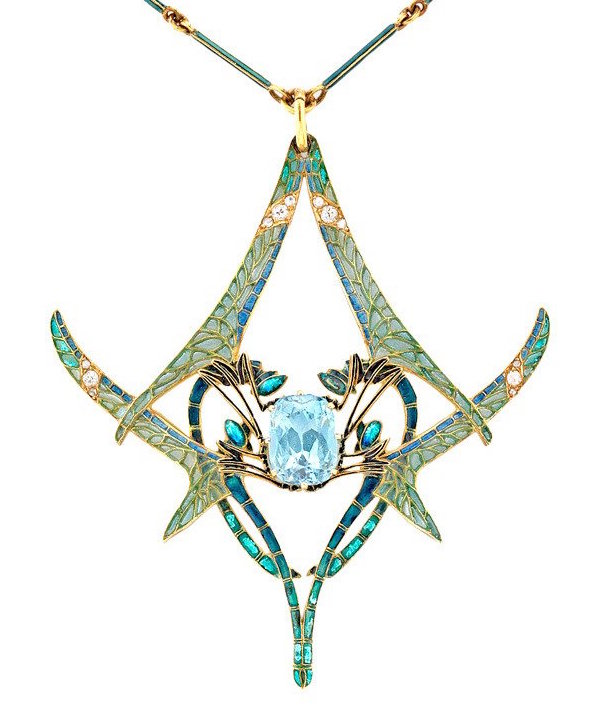 René Lalique dragonfly pendant, late 19th century