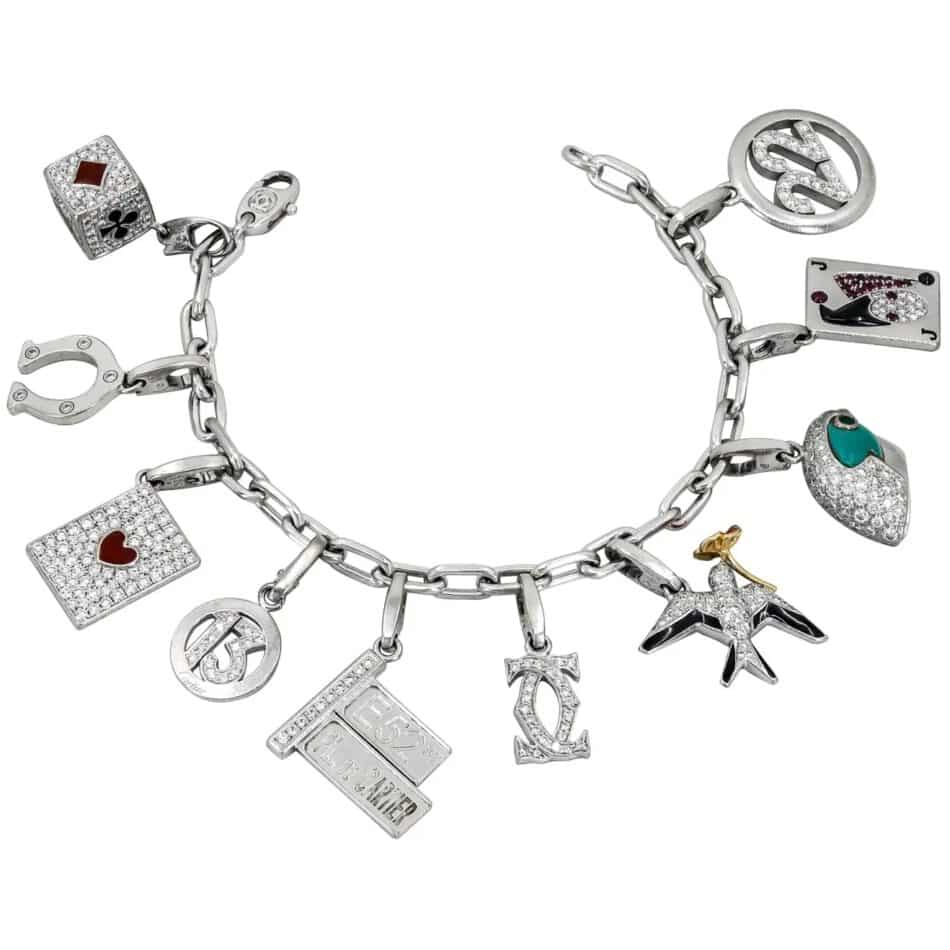 Cartier ten-charm bracelet, 1980s