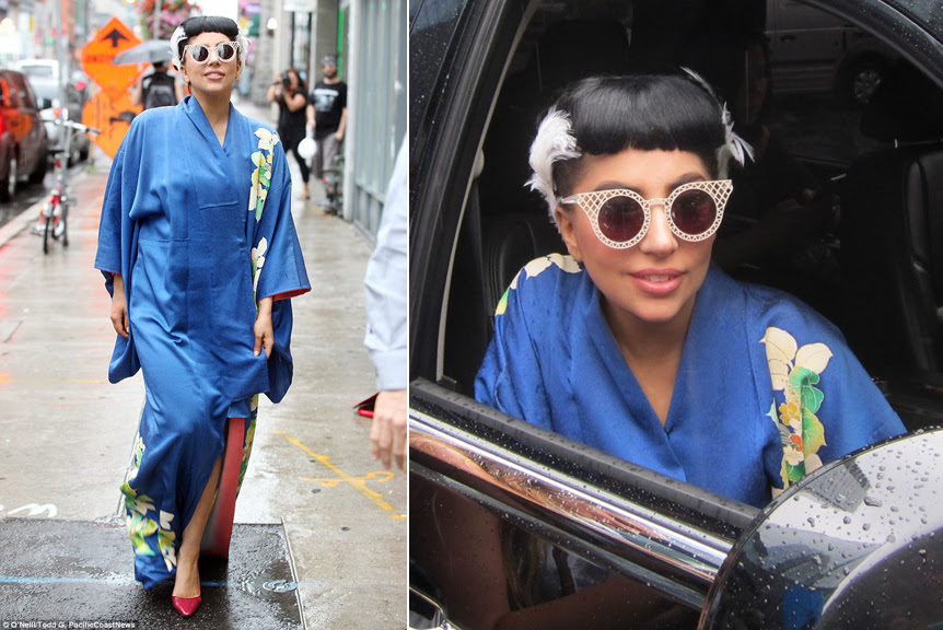 antique blue silk kimono