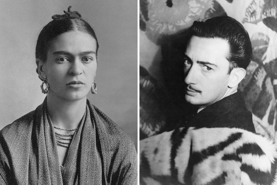 photo of Frida Kahlo and Salvador Dali