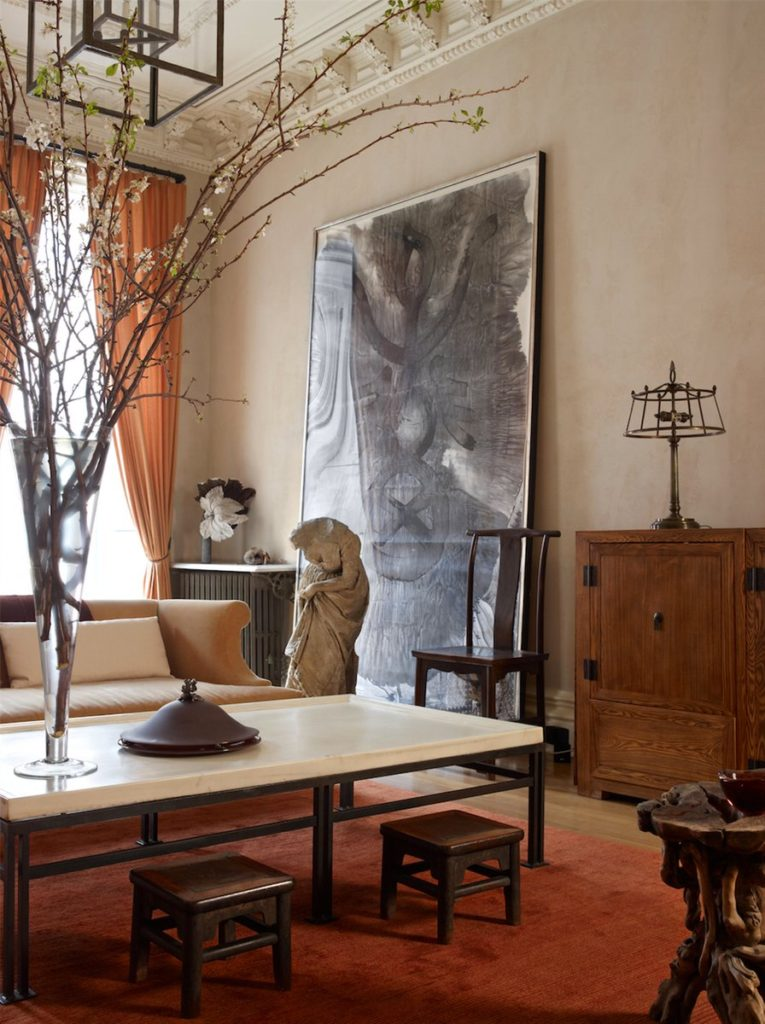 Asian-inspired Brooklyn living room by Kathryn Scott
