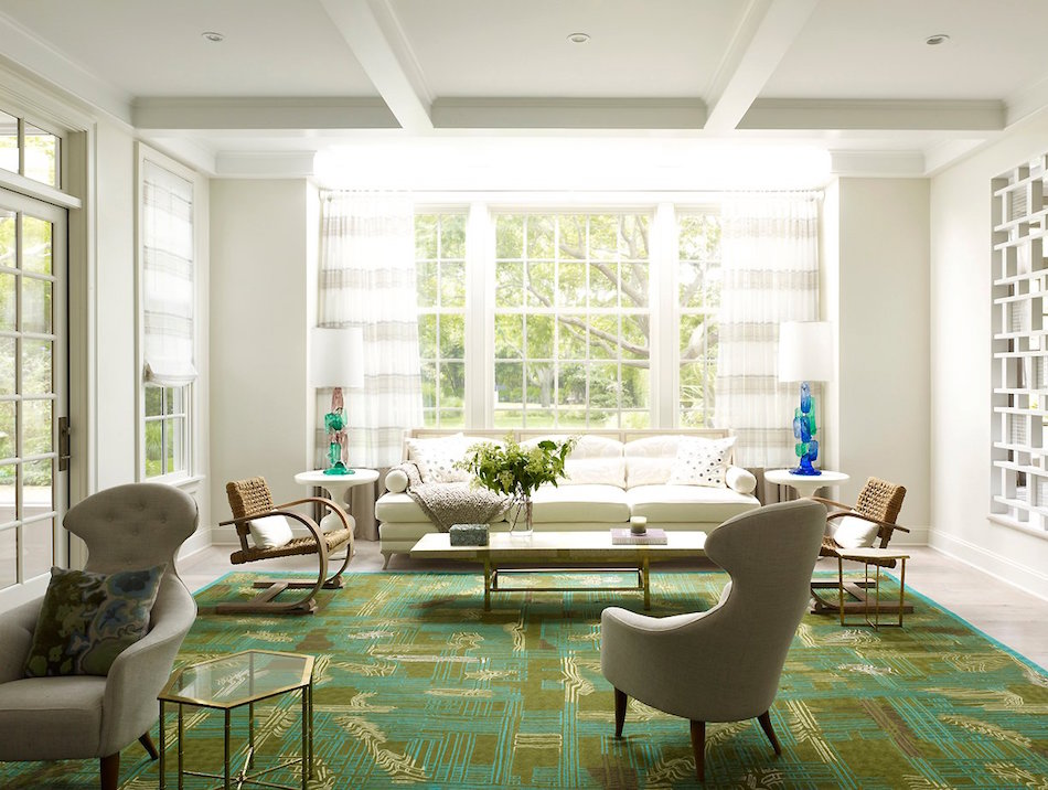 Southampton living room by Fox-Nahem Associates