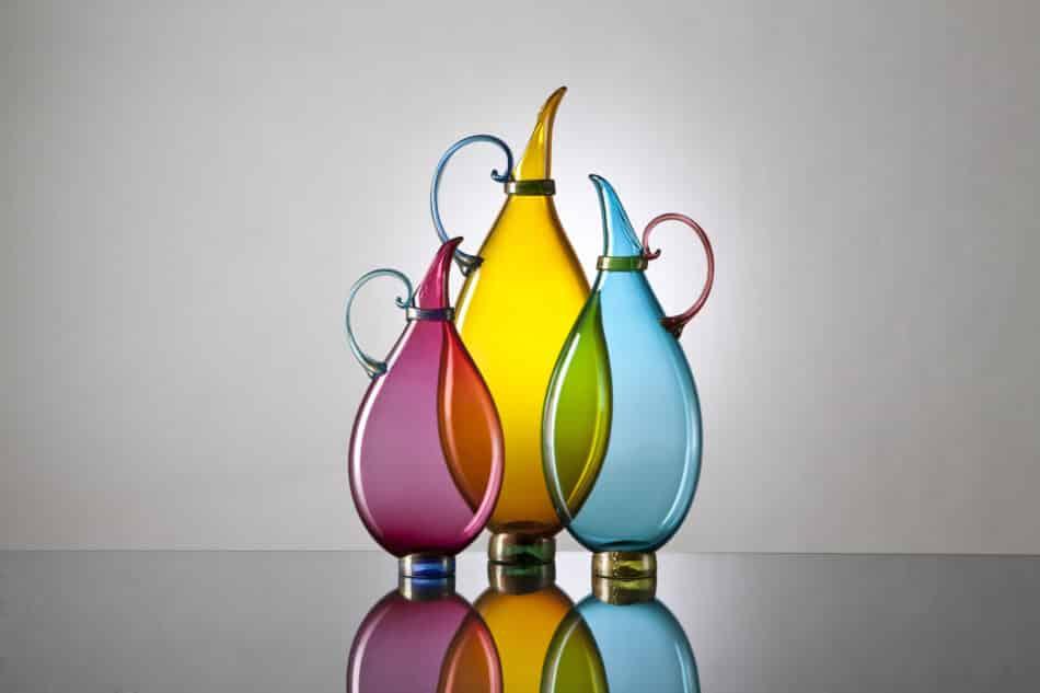 Vetro Vero blown-glass vases