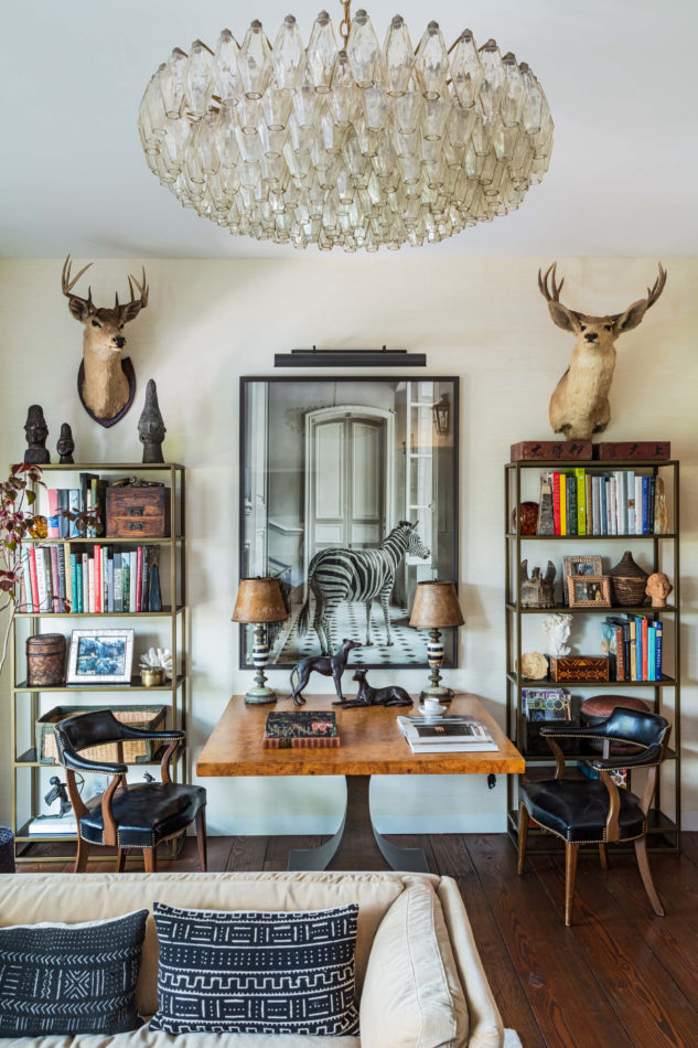 Rancho Santa Fe, CA sitting room by Sean Leffers