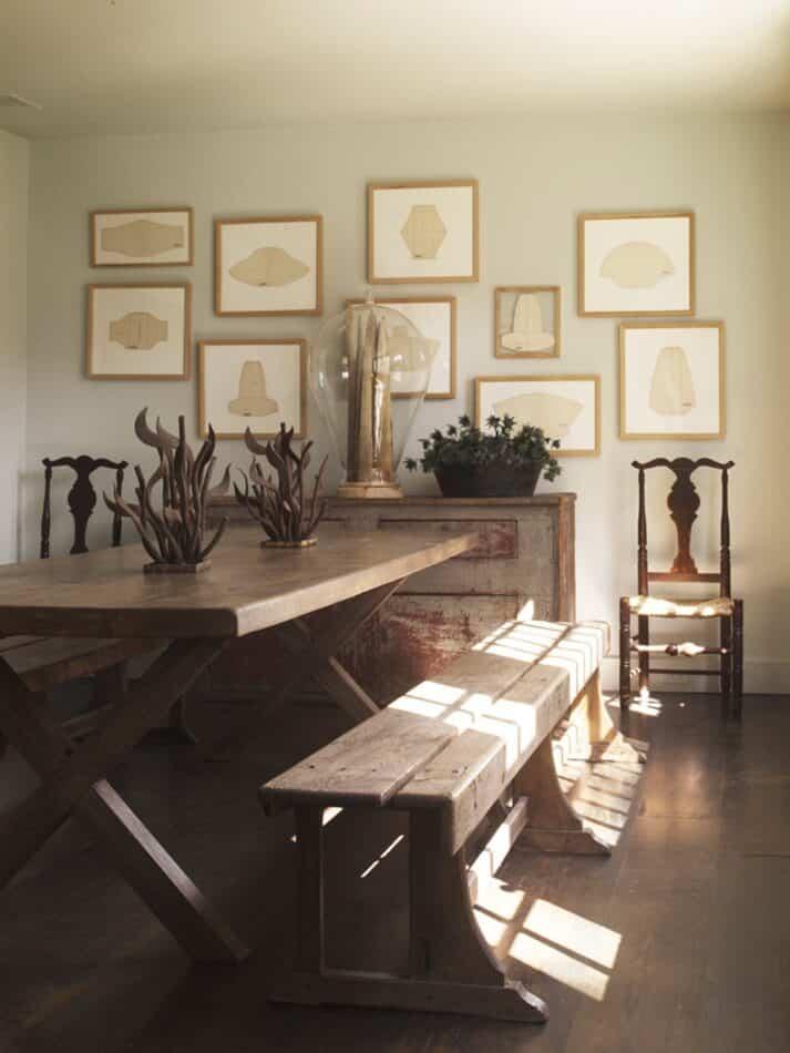 A Bridgehampton, New York, dining room by Huniford Design Studio