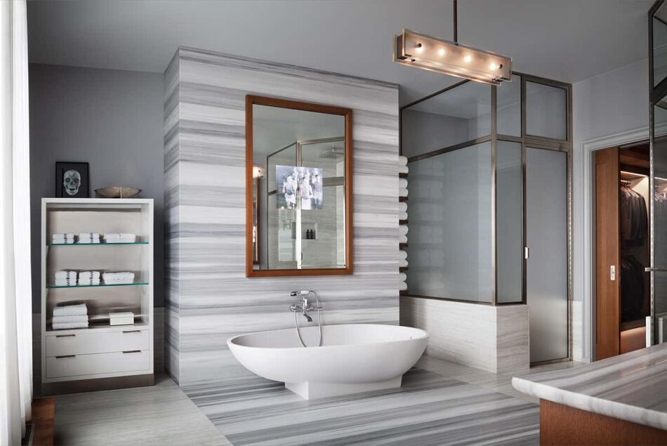 Upper East Side bathroom by Thad Hayes