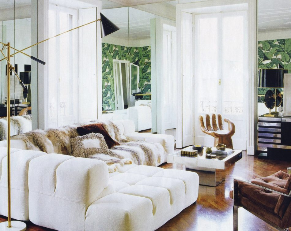 Nate Berkus sitting room in Milan