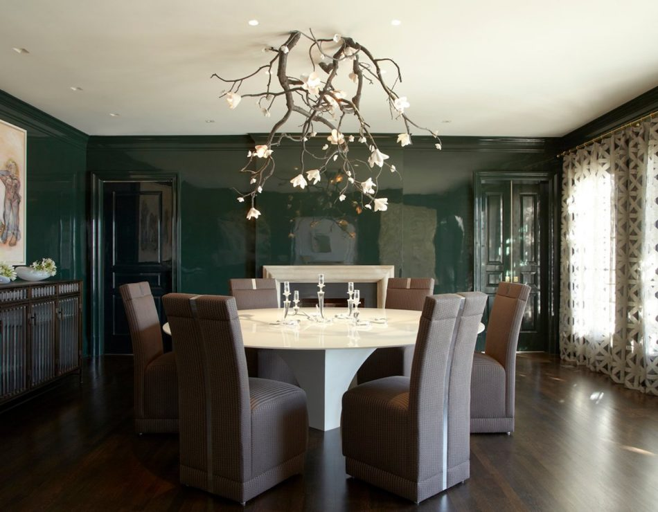 green dining room by Fox Nahem