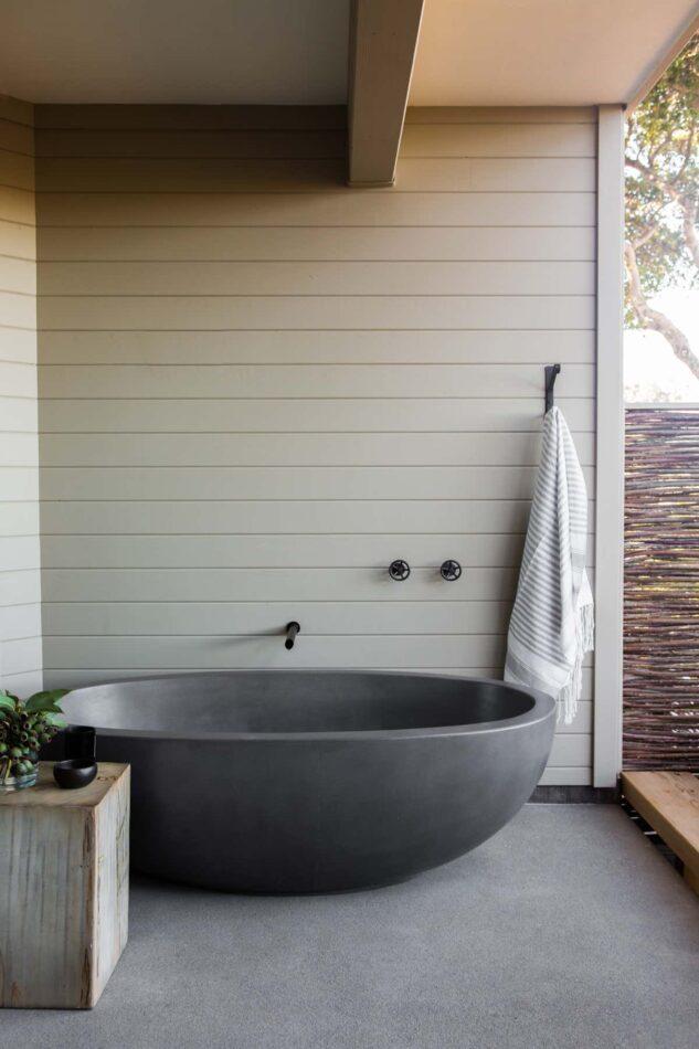 Nicole Hollis-designed bathroom in California