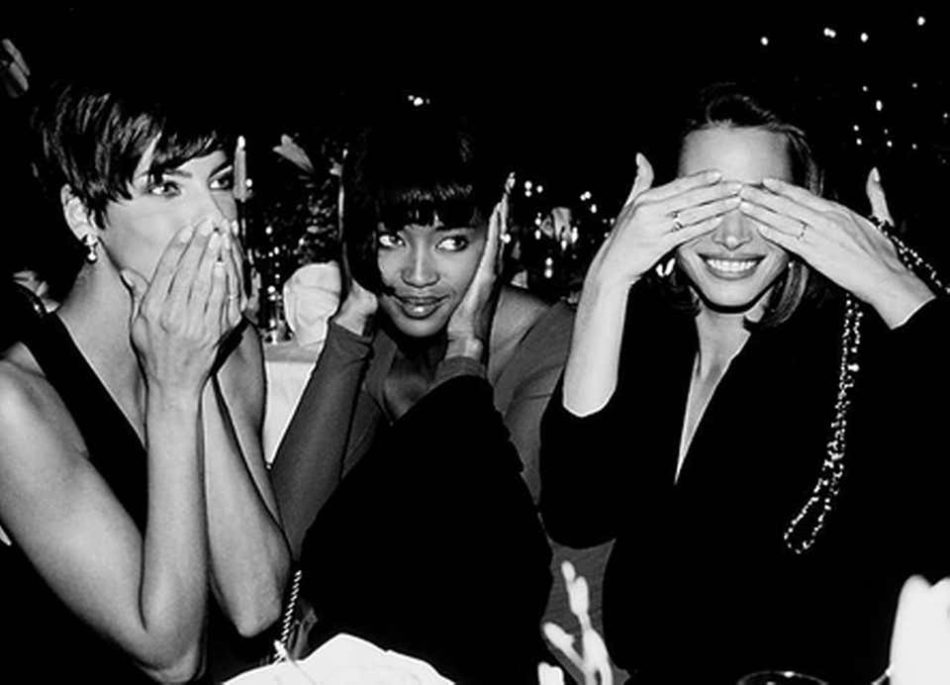 Influential supermodels Linda Evangelista, Naomi Campbell and Christy Turlington, pictured in this Roxanne Lowit photo
