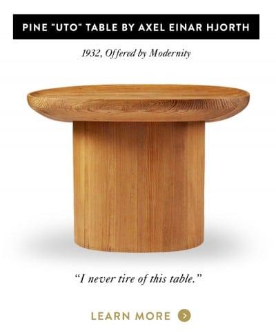 "Pine ""Uto"" Table by Axel Einar Hjorth"