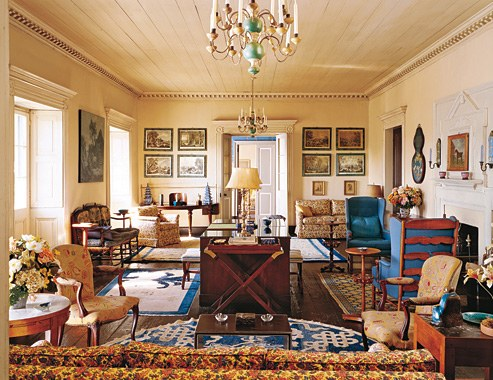 The drawing room at Casa Amesti, designed by Elkins.