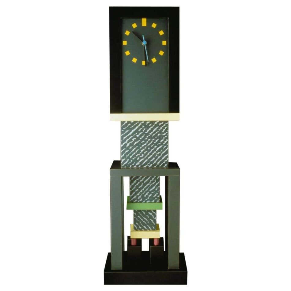 George Sowden for Memphis Milano Metropole Clock, new