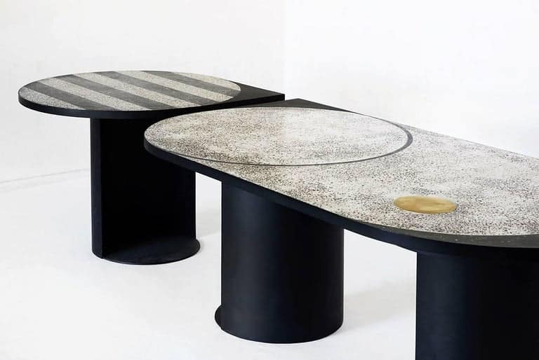 Stripy table by ROOMS